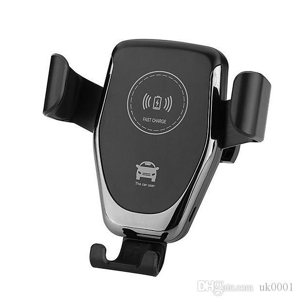 UK Hot Gravity auto Autotelefonhalter Qi schnelle drahtlose Ladegerät mit Einhandbedienung für iphone x XR XS Max 8 Plus Samsung Universal-Telefone