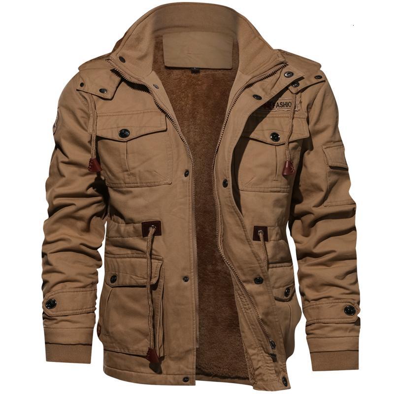 Зима военная куртка мужчины повседневная толстые тепловые пальто армия пилот куртки ВВС грузовой пиджаки флис с капюшоном куртка 4XL одежда V191128