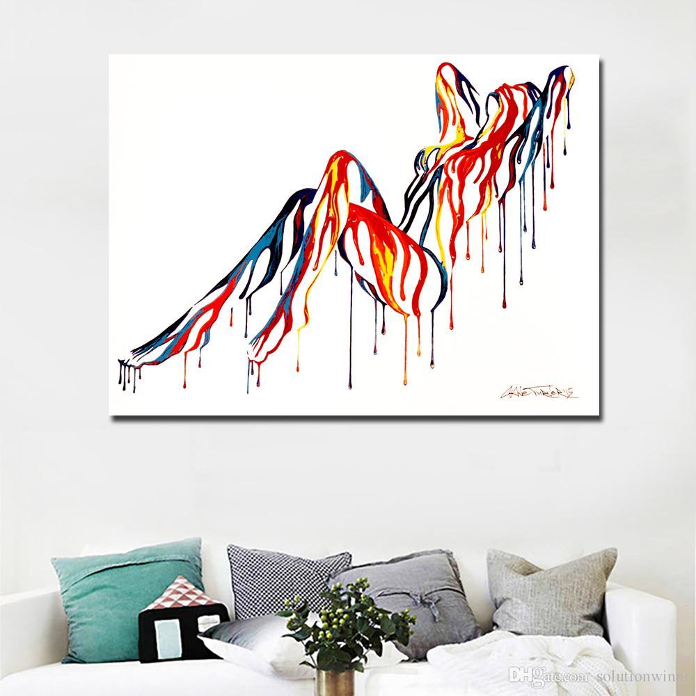 1 Stück Bunte Abstrakte Kunst Sexy Girl Nude Kunst Leinwand Malerei Wandkunst Bild für Wohnzimmer Wand Poster Kein Rahmen