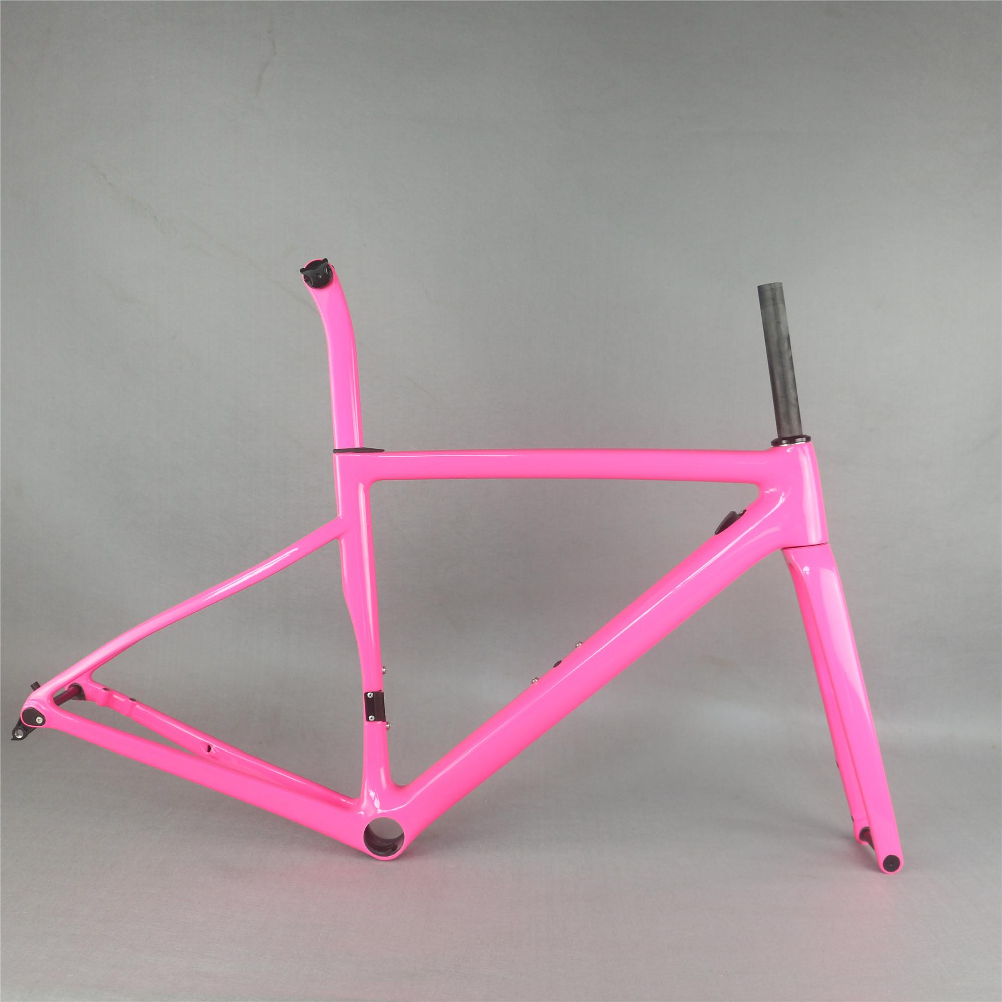 one new Flat Mount disc carbon road frame Bicycle Frameset T1000 New EPS technology disc carbon frame TT-X19