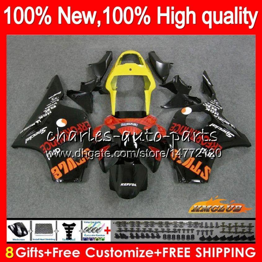 Body For HONDA Repsol orange CBR900RR CBR 954 900 RR CC CBR900 CBR954 RR 02 03 77HC.19 900CC CBR 900RR 954RR CBR954RR 2002 2003 Fairing Kit