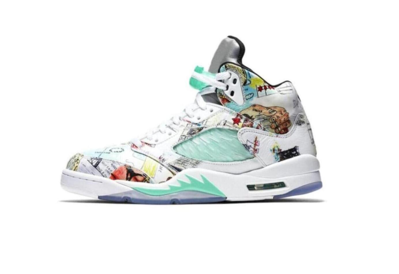 2019 new SUP Bred 5 wings 5s PSG Black men Basketball Shoes Laney oreo silver OG White Grape Space Jam mens sports Sneakers 40-47 luoutdoor