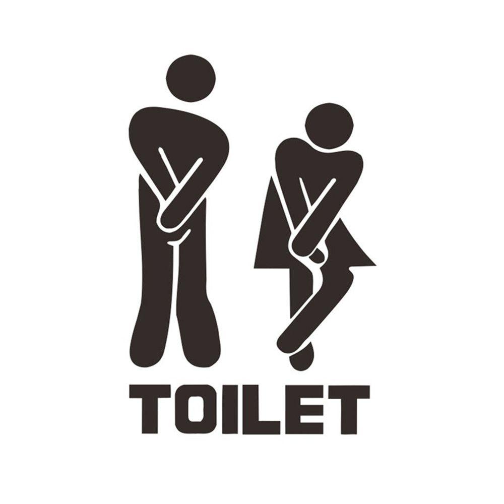 Смешная Ванная Комната Вход Вход Наклейка Для Дома Кафе Отель Туалеты Декор Двери