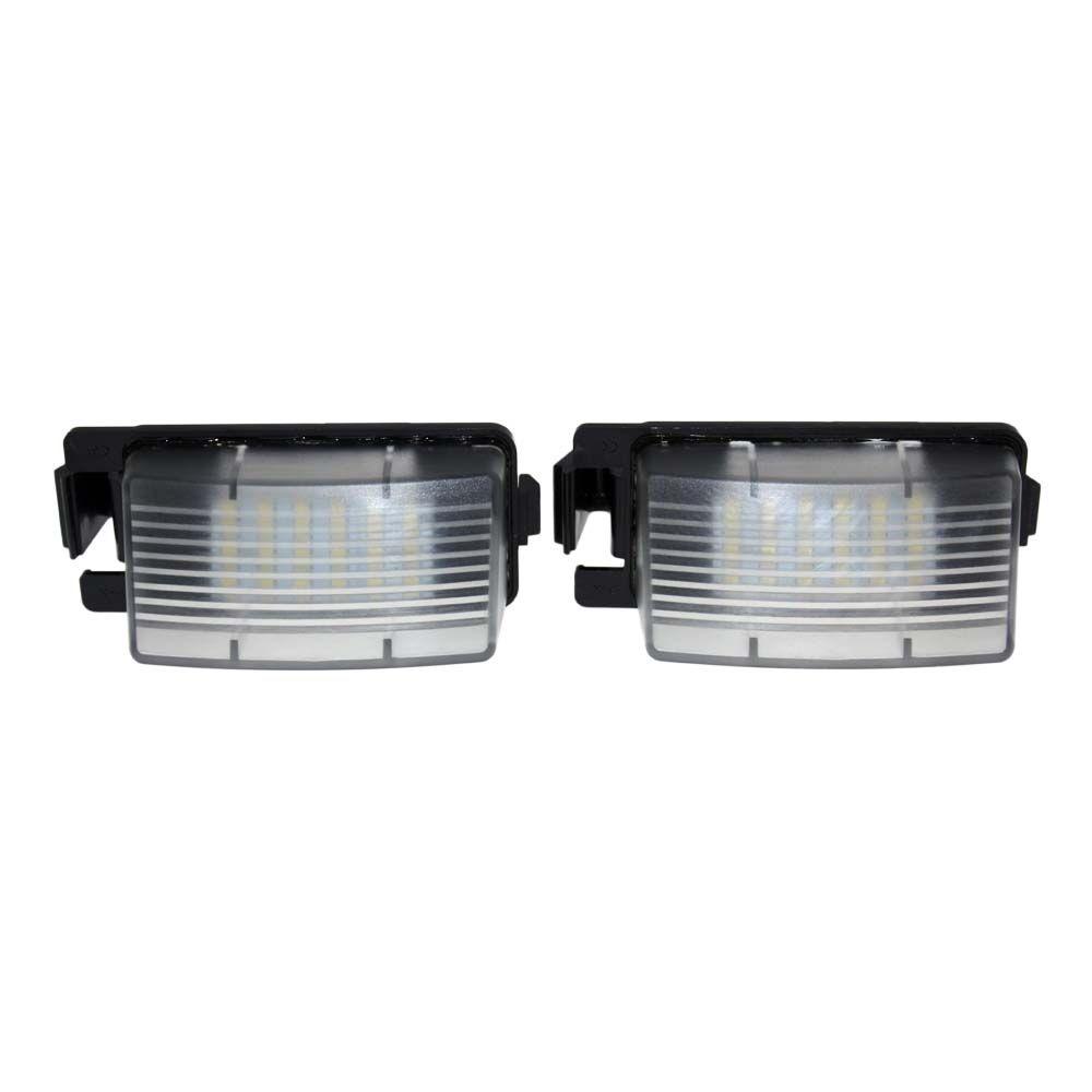2PCS خطأ مجاني 18 3528 SMD LED عدد لوحات السيارات مصابيح الضوء صالحة للINFINITI نيسان سكايلاين V36 G35 G37 350Z