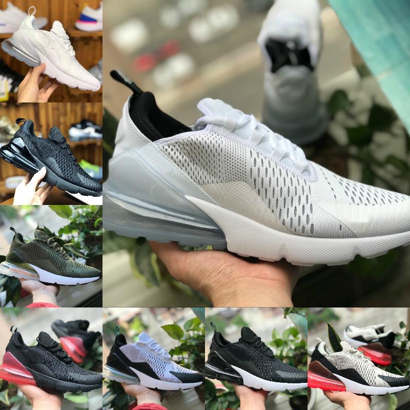 Livraison gratuite 27C hommes femmes chaussures de course 270S THROWBACK AVENIR Tiger LÉGER BONE formateurs respirant blanc noir sport espadrille 36-45