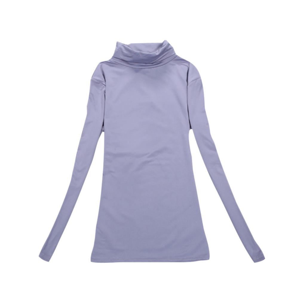 Autumn Winter Women Shirts Long Sleeve Turtleneck Tops Solid Color Basic T-shirt Slim Ladies Warmer Pullovers NYZ Shop
