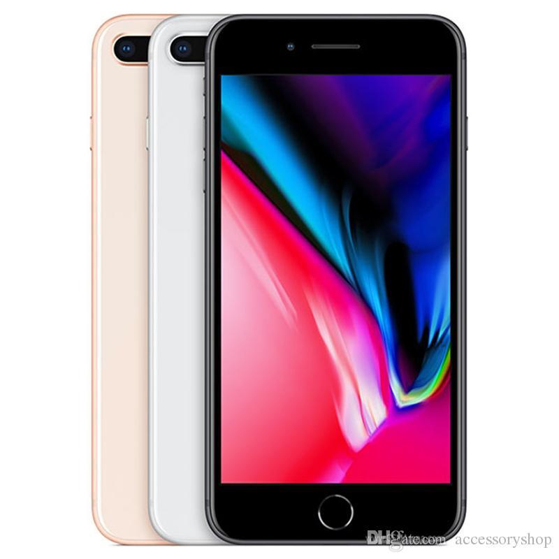 Refurbished Original Apple iPhone 8 Plus 5.5 inch Fingerprint iOS A11 Hexa Core 3GB RAM 64/256GB ROM Dual 12MP Unlocked 4G LTE Phone 1pcs