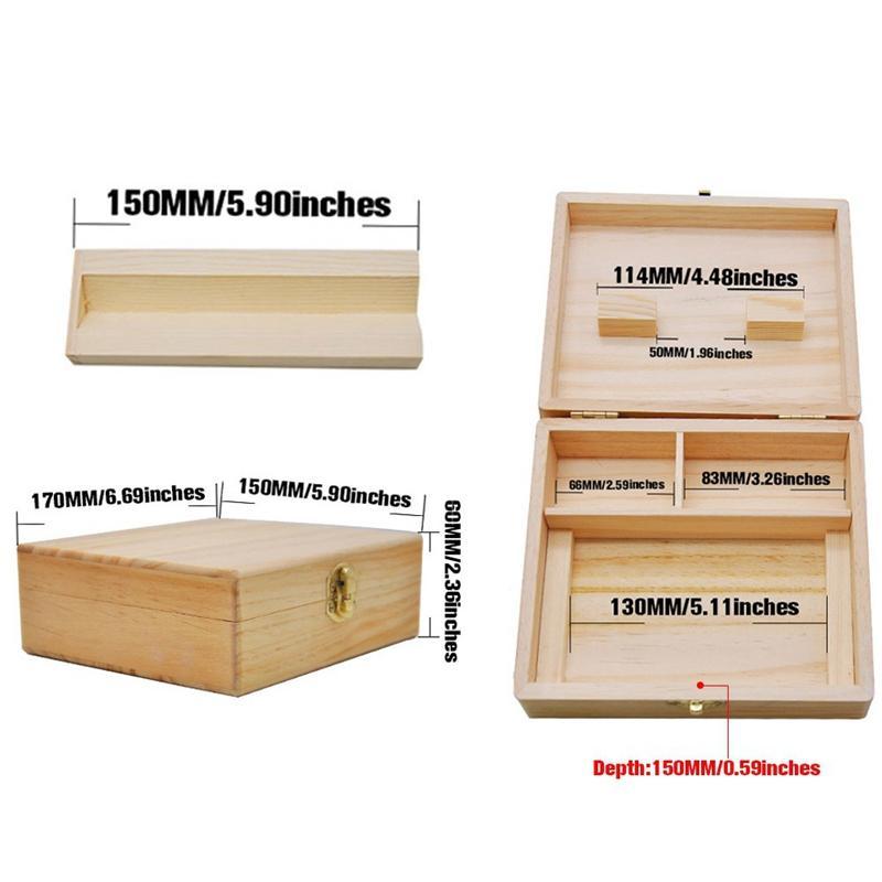 Natural Madera Multifuncional de almacenamiento Stash caja de la caja Preroll para liar cigarrillos Handroller herramienta de desplazamiento Para Bong hierba consumo de tabaco Grinder
