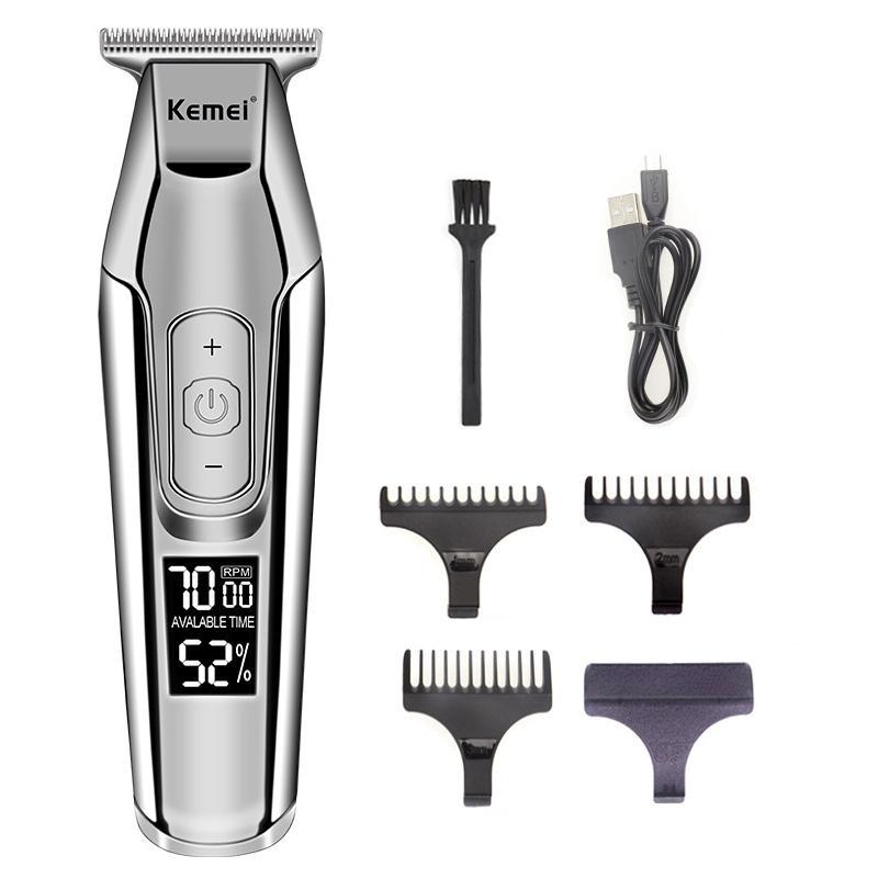 Kemei Professional Hair Clipper LCD barbe machine de coupe de cheveux électrique hommes Haircut rasoir 40D bwkf iazOt