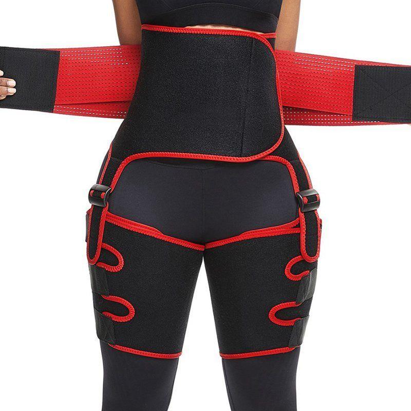 Yeni 3 1 Neopren Yüksek Bel Antrenör Bacak Şekillendirme Sauna Uyluk Giyotin ince yapılı Bel Shaper Shapewear Kemeri Denetimi Külot Y200706 Sweat