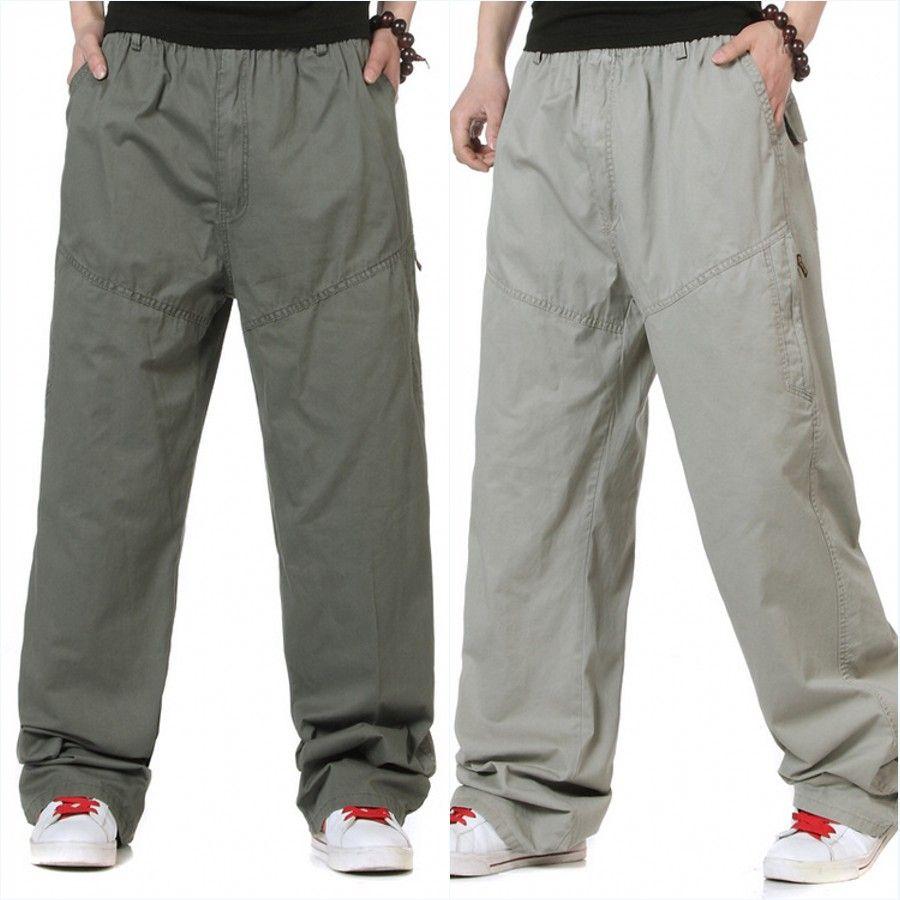 Pantalones casuales finos de verano Pantalones largos sueltos de gran tamaño para hombres Hombres de buena calidad Pantalones 100% algodón rectos ligeros Tamaño 6XL