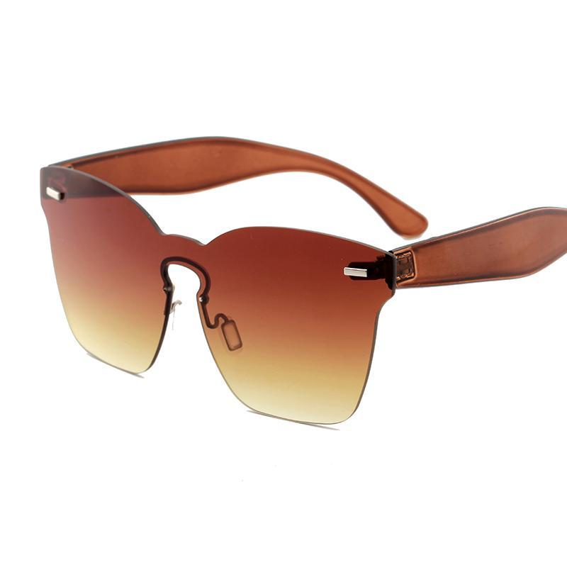 Wholesale-dames lunettes de soleil mode 2018 marque branché designer jaune rouge rose vert violet gros lunettes de soleil lunettes oculos tas