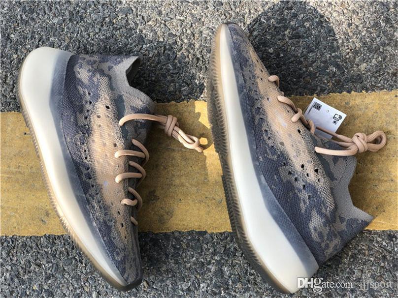 2020 Hot authentique 380 Mist Chaussures de course 380s homme Kanye West coureur de vague 3M réfléchissant non réfléchissant Chaussures de sport Sport avec la boîte