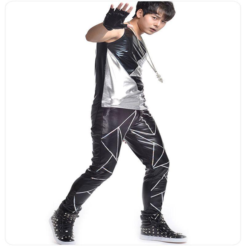Сценическое выступление певицы R36 носит наряды для мужчин dj модели показывают платье жилет бар брюки брюки диско рейв мужские костюмы футболка ds rave music