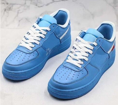 With One 1 07 MCA Blue Chicago Trainers Sneaker Running shoes sports shoes Men Women With Free shipping