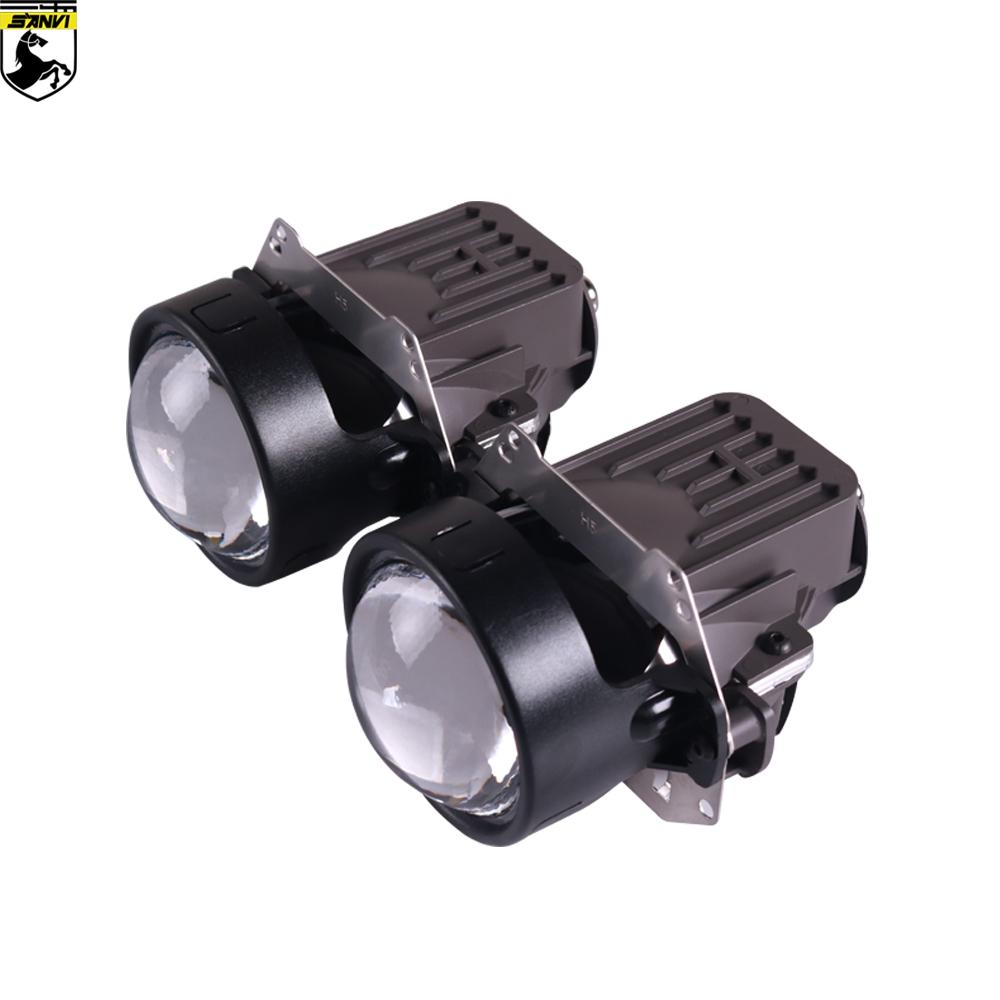 3inches Sanvi X1 35W 5500K Bi LED lente do projetor 12V High Low Feixe Auto Projector LED Farol RHD LHD lente Car