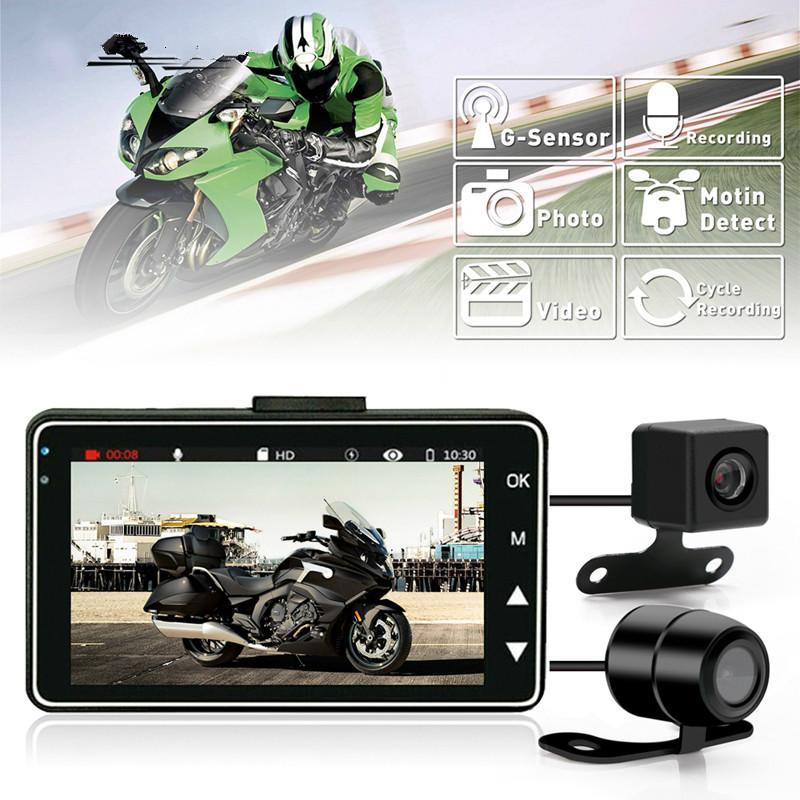 Motorrad DVR Kamera Motor Motorrad-Schlag-Nocken mit Spezial Doppel-Spur vorn hinten Recorder dashcam