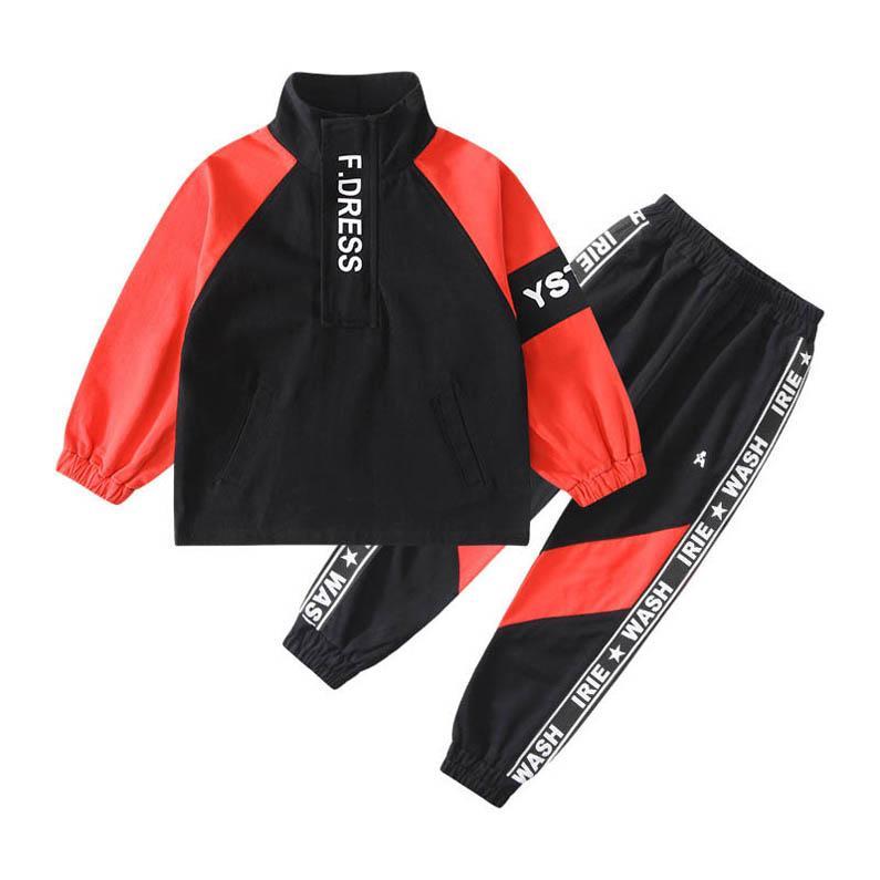 Neue 2020 Art und Weise scherzt beiläufige Klagen Jungen Trainingsanzug gesetzte Jungen Anzug für Kinder Designerkleidung Jungenkleidung Hülse lange Strickjacke + Hosen 2pcs B316