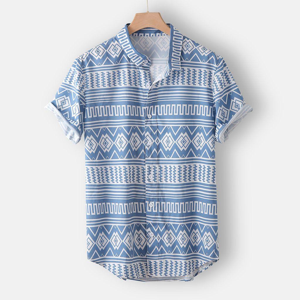 Verano de los hombres de la solapa de bolsillo multi puro camisa de manga corta blusa de la tapa del tamaño extra grande Camisa hawaiana camisas Masculina sociales Chemise homme T200622