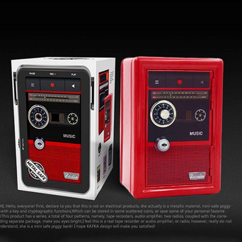 Metallo creativo sicuro Piggy Bank con il codice di blocco e la chiave Keep Your Monete gioielli e oggetti di valore
