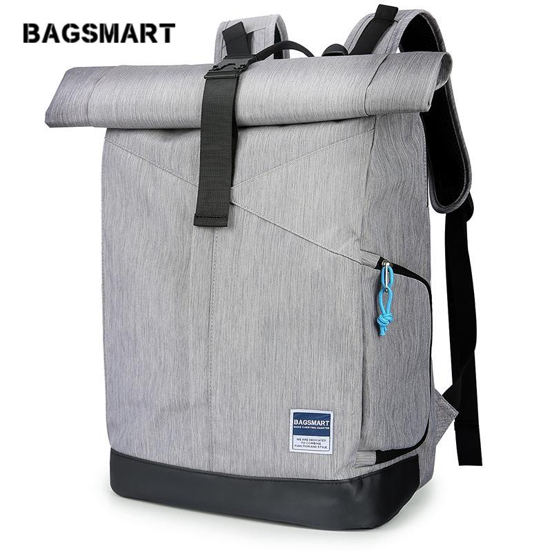 Custom Leather Men Laptop roll top Shoulder Satchel backpack Rucksack Travel