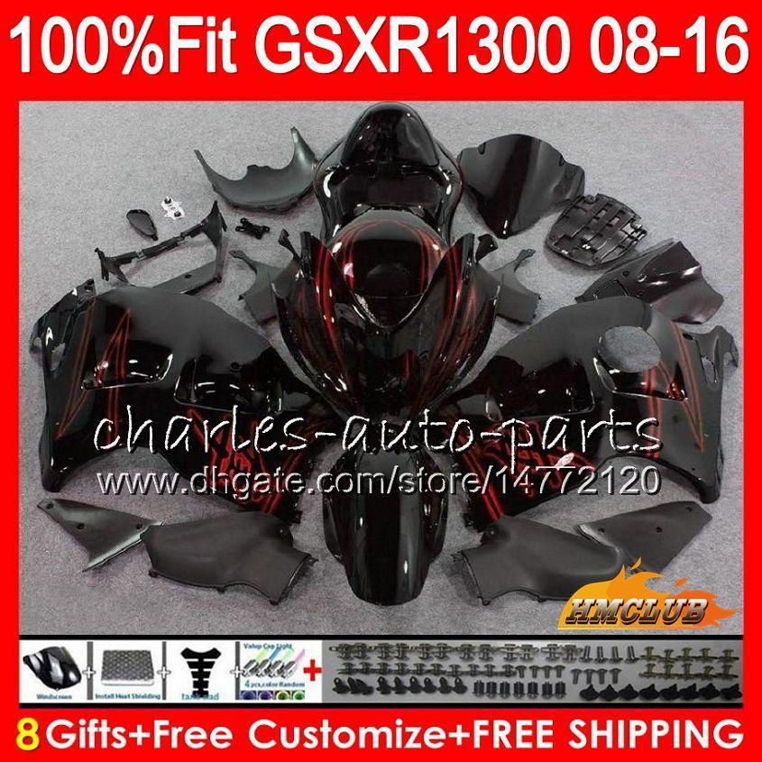 OEM para Suzuki GSXR1300 Hayabusa 08 14 15 2008 2014 Black Red 2015 25HC.274 GSXR 1300 GSXR-1300 16 17 17 2016 2017 2018 Beneficioso de inyección