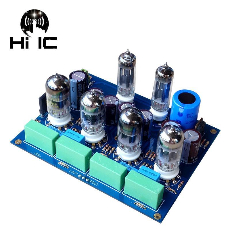 Zeytin HiFi Tüp Amplifikatörler Ses tahtası Amplificador Pre-Amp Ses Karıştırıcı 6Z4 * 2 + 12AU7 * 2 + 12AX7 * 2 Valf Preamp Safra Tampon