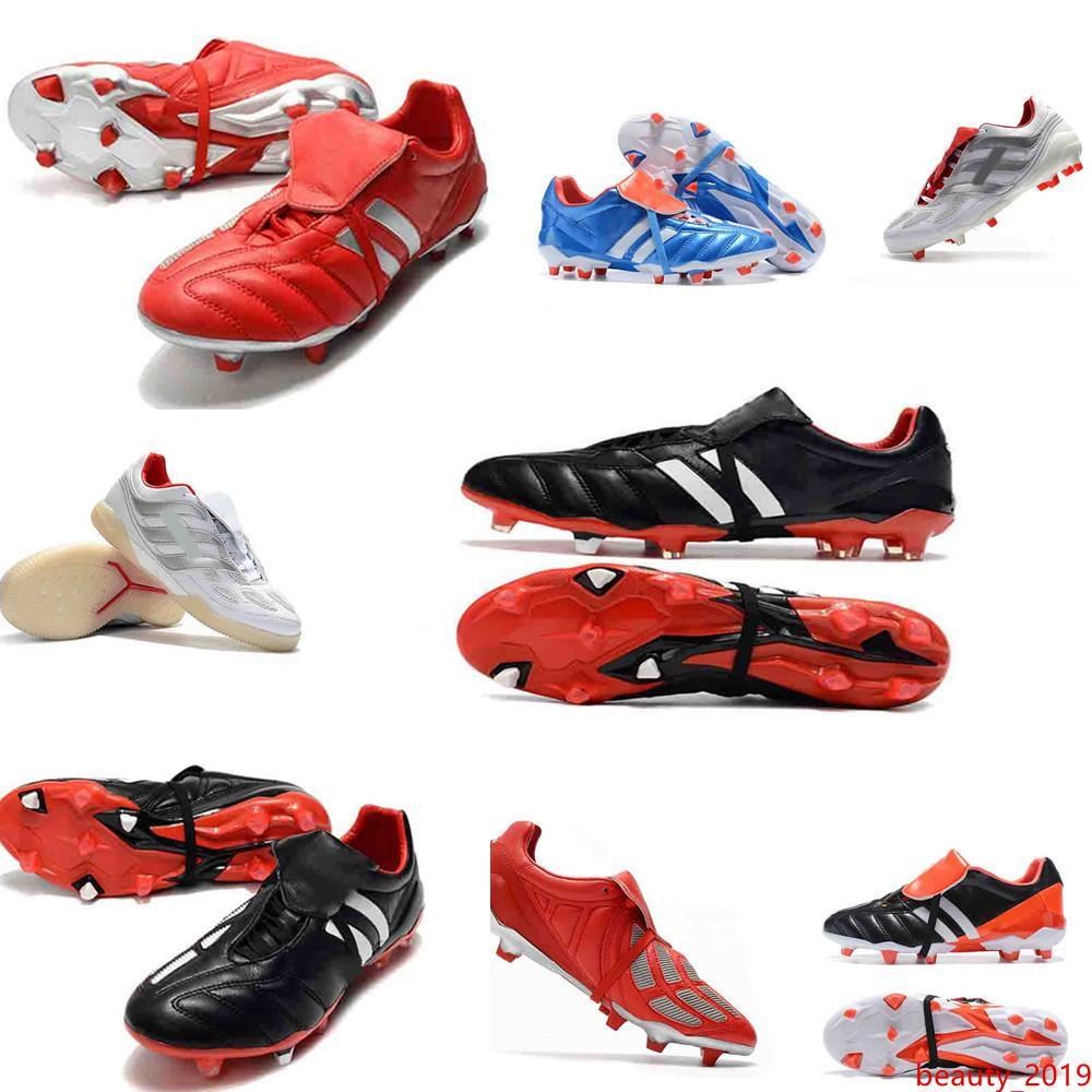 tacchetti da calcio originali 6 ° PREDATOR scarpe da calcio MANIA Ramponi scarpe da calcio predatore mania di precisione Accelerator DB David Beckham FG oro