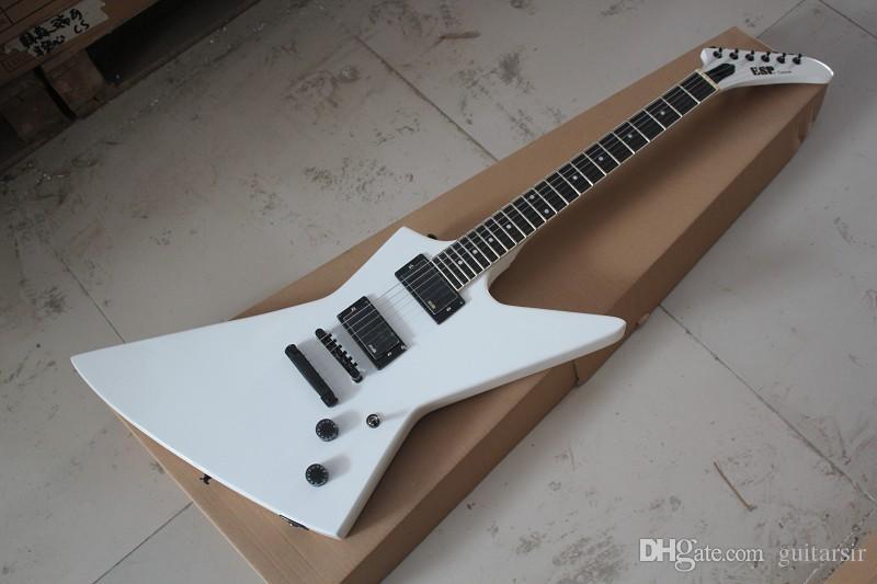 Envío libre Nueva llegada Recoger en aduana de la guitarra eléctrica blanca Explorador MX-250 II En Stock