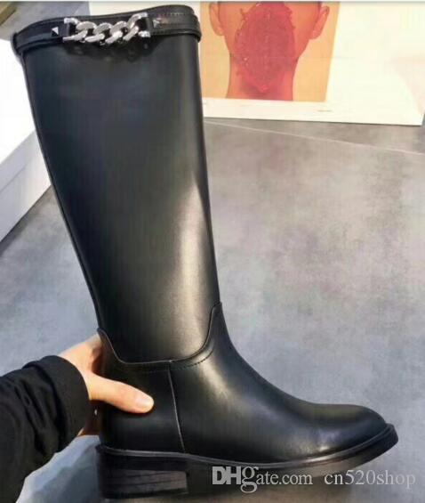 Женщины Натуральная Кожа Мода Сапоги Середины Икры Сапоги С Платформой 2019 Осень Зима Женская Обувь Супер Качество Женская Мода Пинетки Обувь