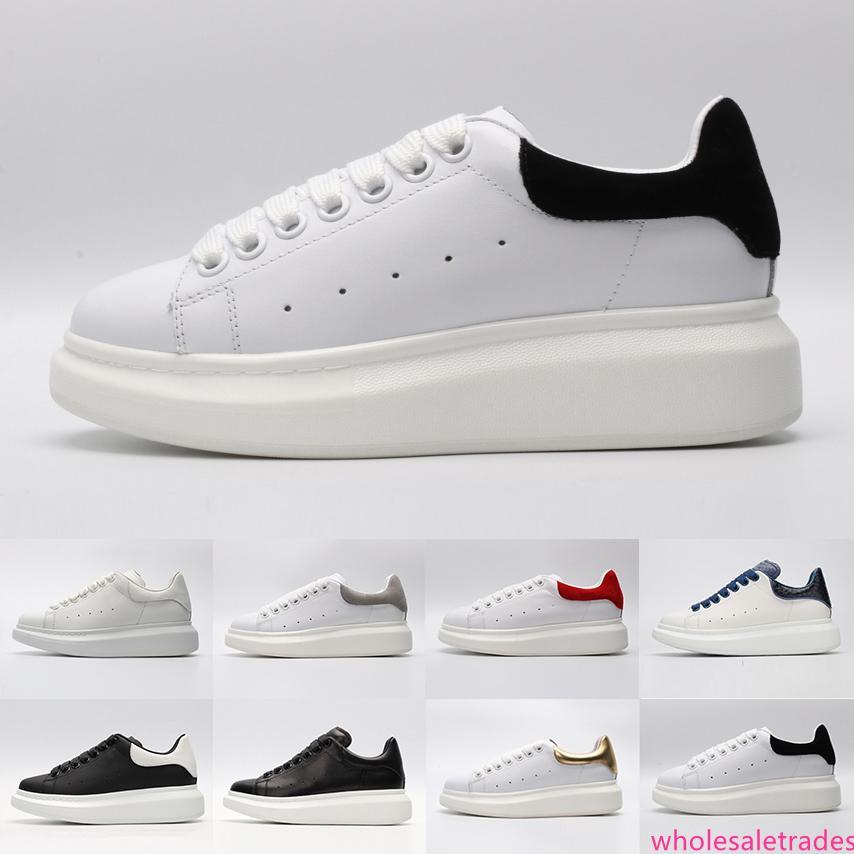 Nuovo arrivo nero bianco Scarpe da donna rossa di lusso dello stilista oro Low Cut marchio di cuoio piano designer donna degli uomini Sneakers casual 36-44