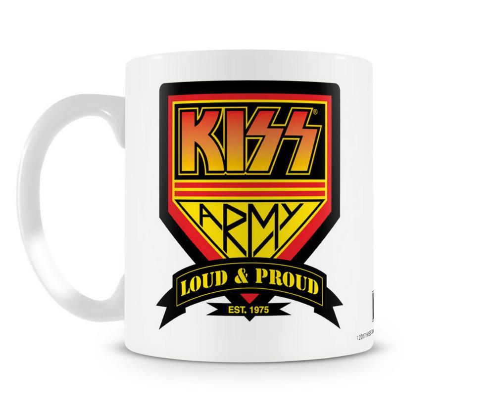 Tazza da th/è e caff/è in Ceramica Rock Metal Band LaMAGLIERIA Tazza Mug Kiss