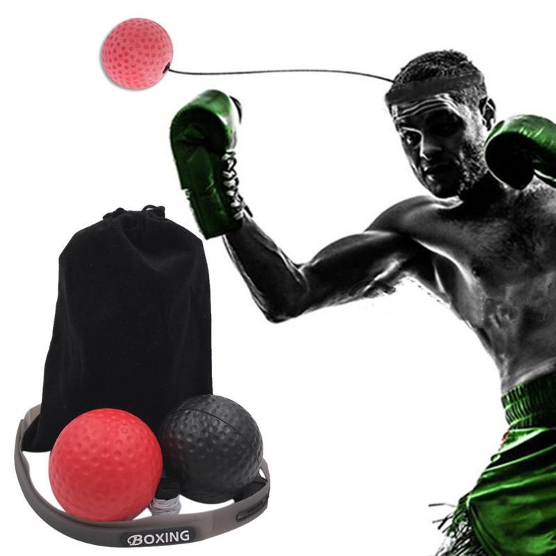 Luta de boxe Reflex Bola Faixa principal da velocidade de treinamento perfurador Bola de Muay Tai 2 luta Exercise Equipment Acessórios #YJ