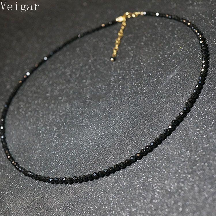 Einfache schwarze perlen kurze weibliche 2018 modeschmuck frauen choker halsketten bijoux femme damen partei halskette c190420