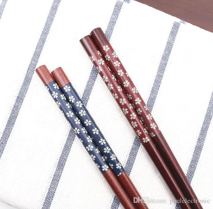 Taşınabilir Japon Kiraz Çiçeği Ahşap Chopsticks Nefis Ücretsiz Kargo ile Travel'ın eşyaları El yapımı Bento Ortağı Hediye sofra