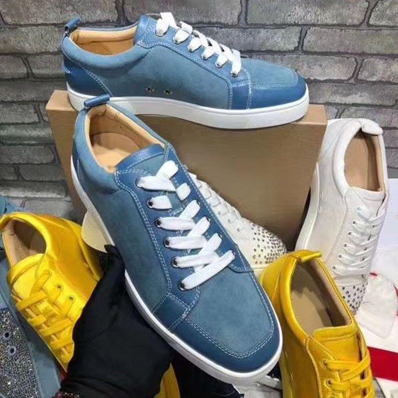 2020 Top Quality Homens Mulheres Platform lazer mulheres moda sapatos de plataforma Spikes sapatos de couro Casual Shoes 38-46 U42