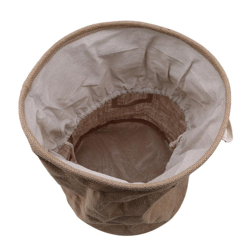 Cestas New amarelo pequeno japonês juta Sorting Bins Lavandaria sujos dobrar roupas dobrável Storage Início Basket