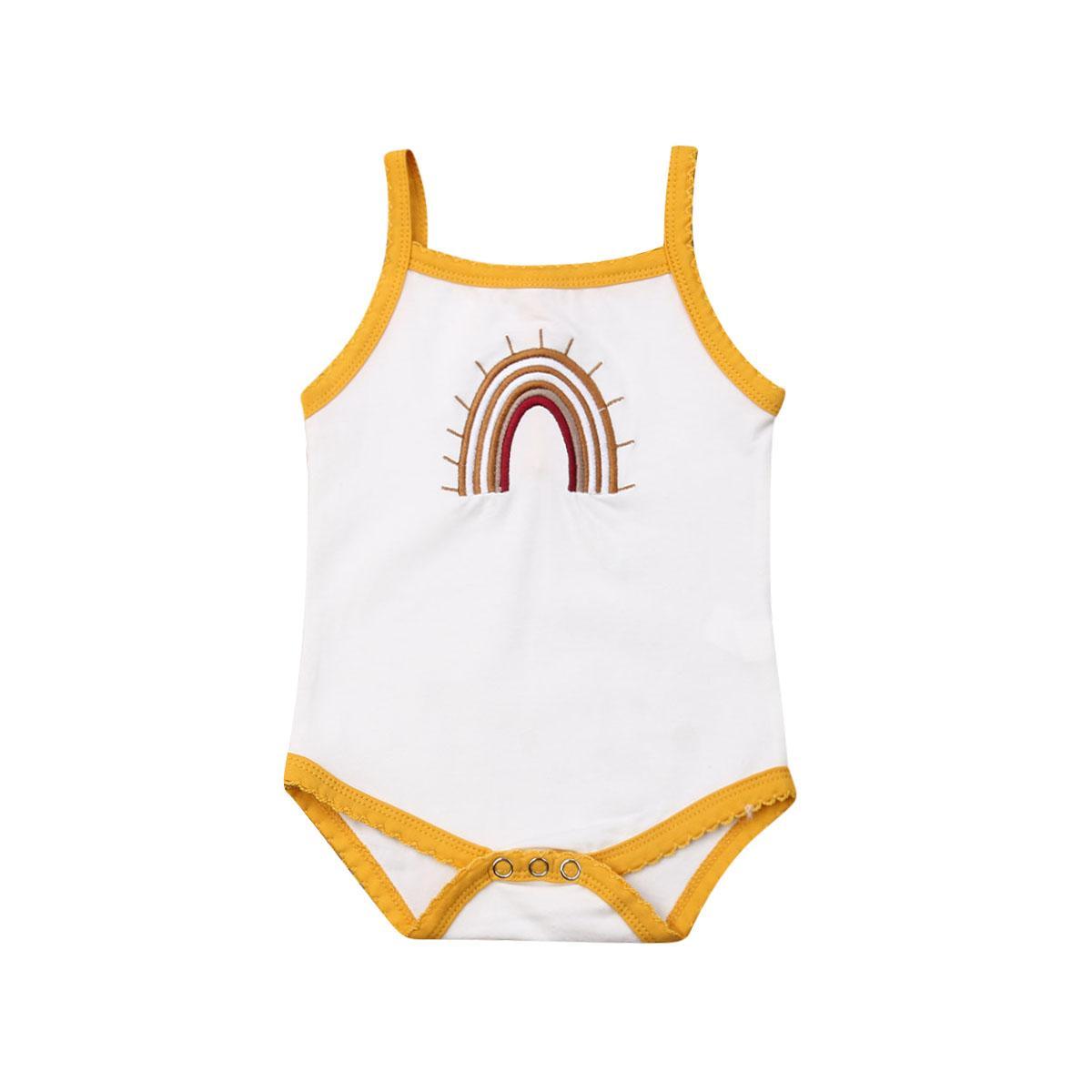 2019 infantili della neonata Kid maniche tuta di estate della tuta un pezzo fototecnica cotone delle ragazze vestiti casuali 0-24M