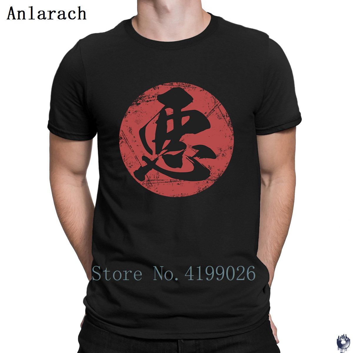 Kanji Caligrafia mal camisetas T superior Humor Família camisa de impressão t para homens simples de algodão Verão Estilo Unisex camiseta Fit