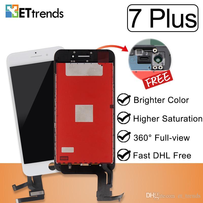 Estável de Exibição de Qualidade para o iphone 7 Plus Lcd Tela Assembléia Fábrica Fornecer Diretamente Cold Press Quadro Nenhum Pixel Morto DHL
