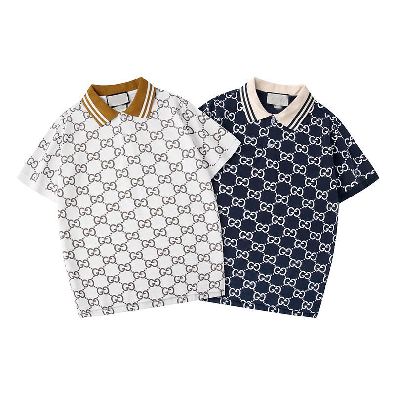 Nova 2020 Marken-Entwerfer-Polo-Hemden der Männer zufälliges Polo-Hemd Modo Medusa Imprimir Luxus-T-Shirt High Street Mens Rua desgaste do esporte Pol