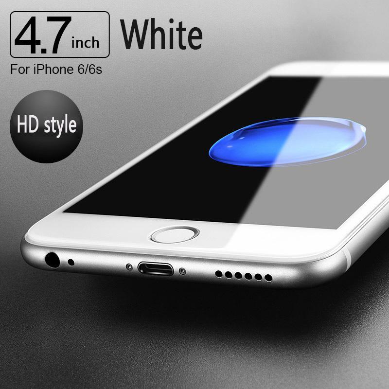 Para Apple 6 película templada antihuellas iPhone6s cubierta de pantalla completa resistente a los golpes película protectora de pantalla película de vidrio iphone6