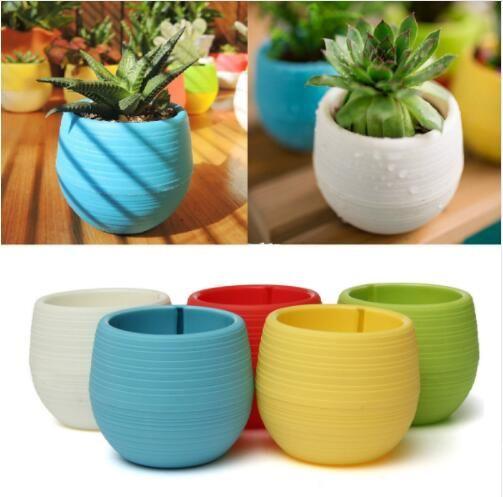 Mini Plastic Flower Pot 7*7cm Succulent Plant Flowerpot Home Garden Office Decor Succulent Plant