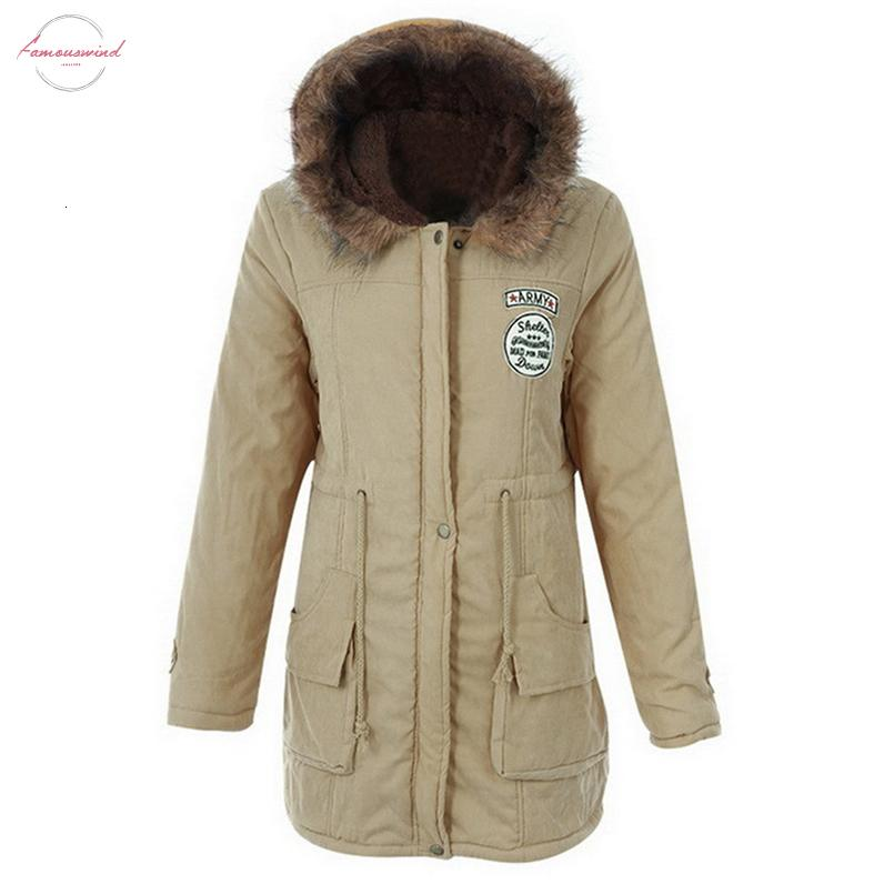 Femme Parkas 2019 appliques femmes manteau d'hiver Veste d'hiver Épaississement coton Flully Femmes Manteaux Pour Femmes Parkas hiver