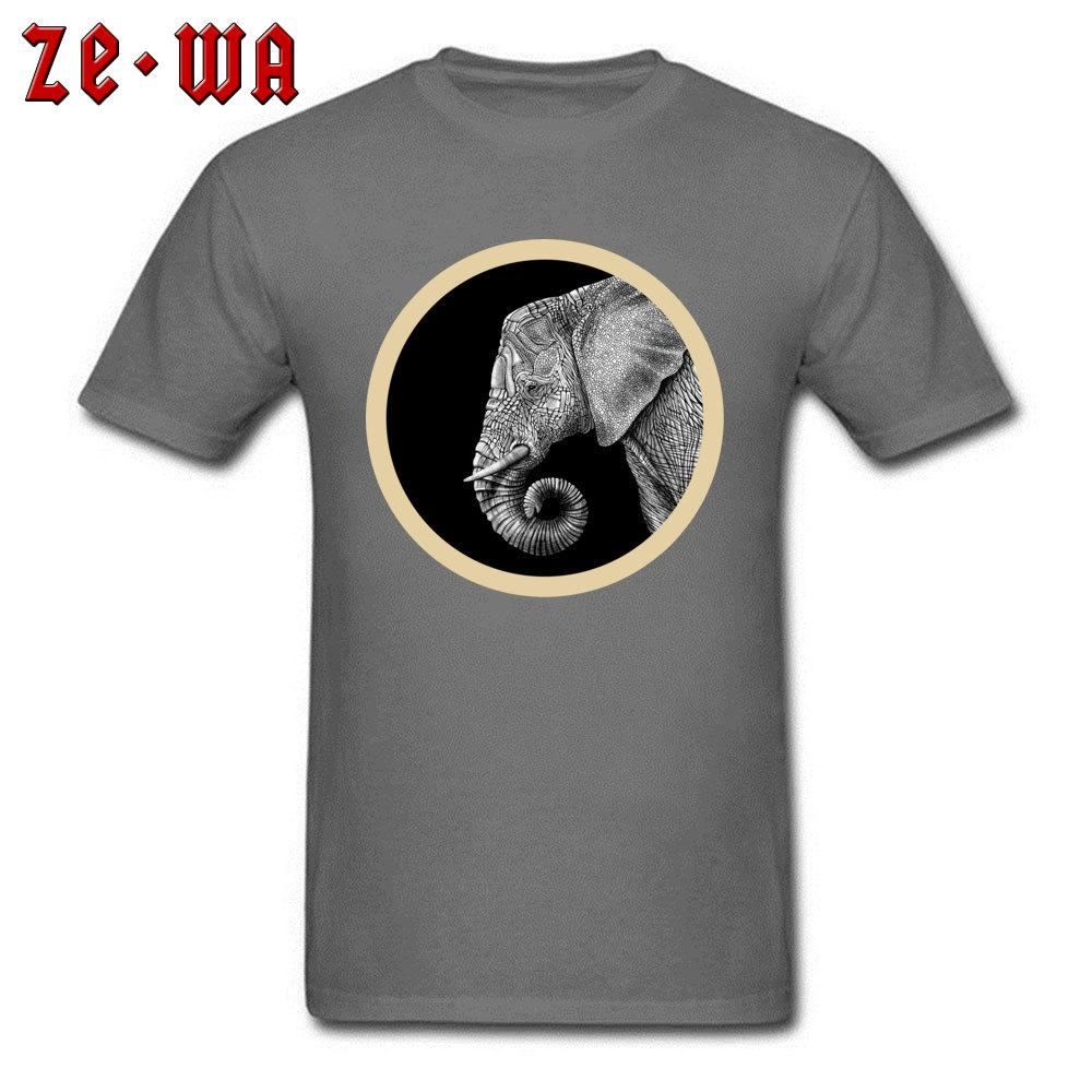 Classic T-shirt Men African Elephant Print Tee Shirts Indian Art Design Tops Animal On Mens Tshirt Custom Gift Clothes Cotton