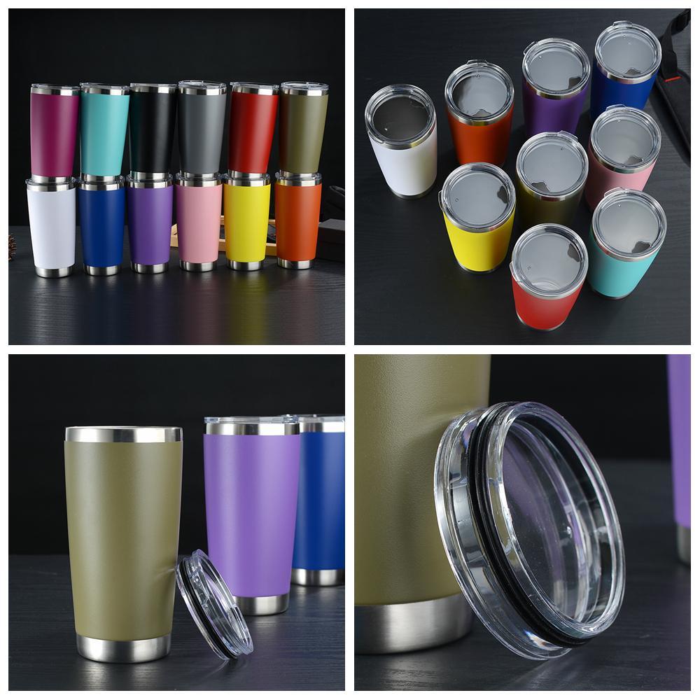 12colors de café en acier inoxydable Gobelet isolant thermique tasse de bière Coupe Analysé avec Couvercles vide voiture à domicile DRINKWARE FFA4149 100pcs