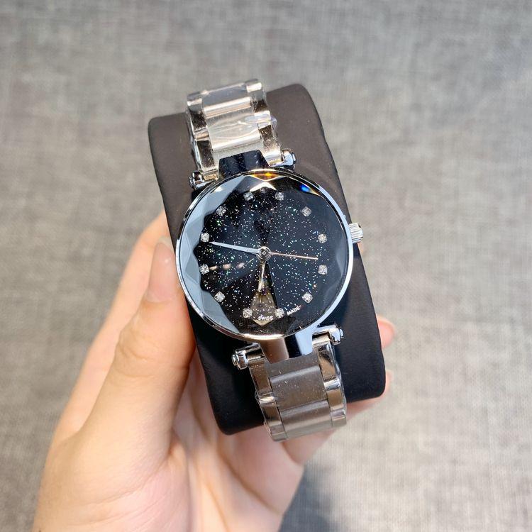 2019 고품질 패션 여성 시계 로즈 골드 / 실버 / 블랙 스테인레스 스틸 럭셔리 시계 Sexy Lady Wristwatch 다이아몬드가 세겨진 인기 모델