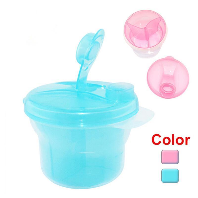 Портативный дозатор детского молока 1шт 3 секции младенческой дети контейнер ящик для хранения A17#30