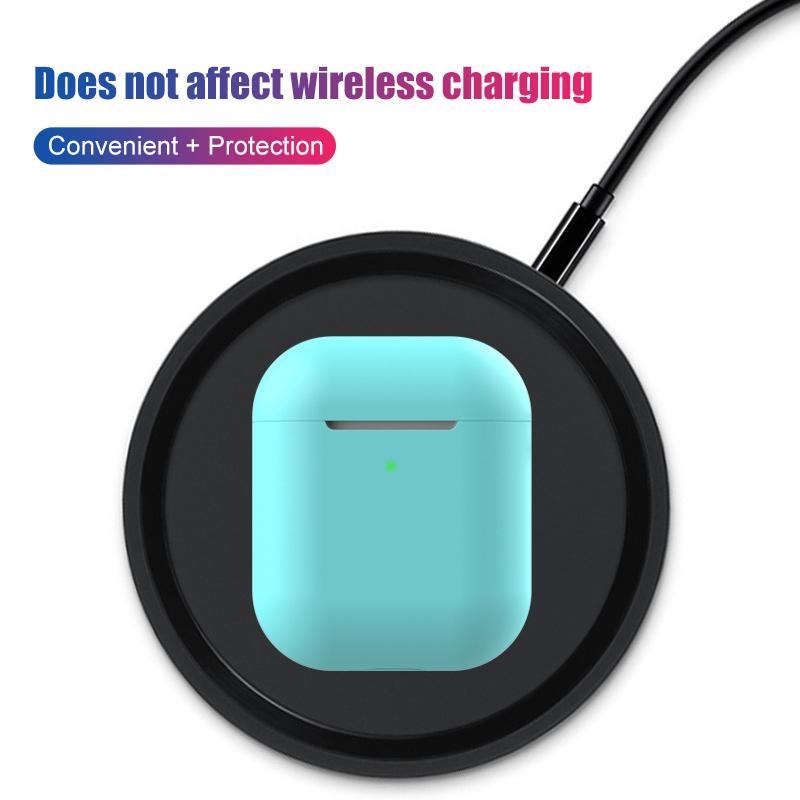Ultra İnce TPU Bluetooth Kablosuz Kulaklık Koruyucu Kılıf İçin Airpods 2 Çok Şeker Renk Kulaklık Çanta İçin Airpods 2 Aksesuar
