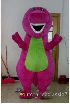 La vendita diretta della fabbrica Barney Dinosaur Costume della mascotte del personaggio di film Barney Dinosaur Costumes il vestito operato adulto del vestito operato Trasporto libero